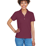 Ladies' Pima Piqué Short-Sleeve Y-Collar Polo T-Shirt