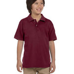 Youth 6 oz. Ringspun Cotton Piqué Short-Sleeve Polo T-Shirt