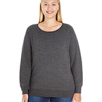 Ladies' Curvy Slouchy French Terry Pullover