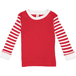 Toddler Long-Sleeve Baby Rib Pajama Top