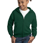 Youth ComfortBlend ® Full Zip Hooded Sweatshirt