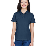 Ladies' 6 oz. Ringspun Cotton Piqué Short-Sleeve Polo T-Shirt