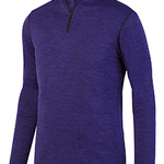 Youth Intensify Black Heather Quarter-Zip Pullover
